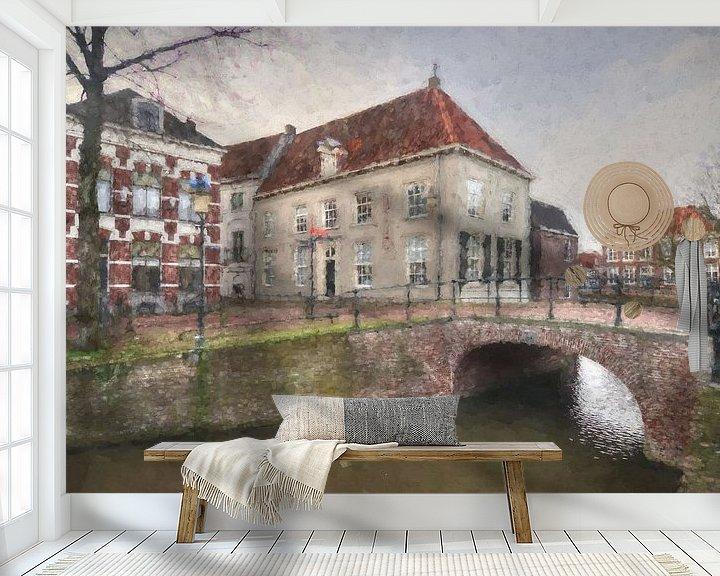 Sfeerimpressie behang: Museum Flehite historisch Amersfoort van Watze D. de Haan