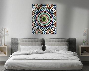Marokkaanse tegel print van Jaap Ros