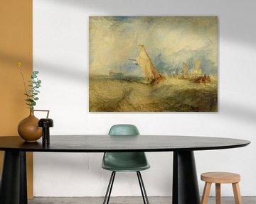 Van Tromp, s'apprêtant à faire plaisir à ses maîtres, Ships a Sea, se mouiller, William Turner