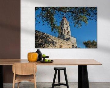 Toren in de oude stad van Rhodos, Griekenland van Eigenwijze Fotografie