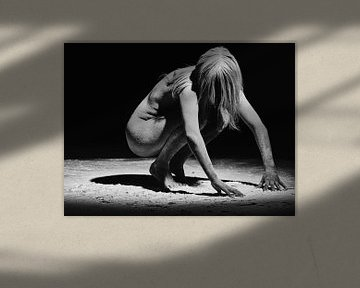 Nackte Frau mit Stoffbezug #0858 von william langeveld