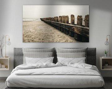 Buhne am Strand von Norderney von Steffen Peters