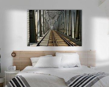 Spoorbrug bij Zaltbommel van Theo van Woerden