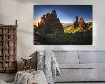 Schotland Old Man of Storr Panorama met zon van Jean Claude Castor