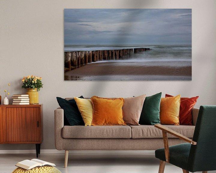 Sfeerimpressie: Golfbreker en strand van Bram van Broekhoven