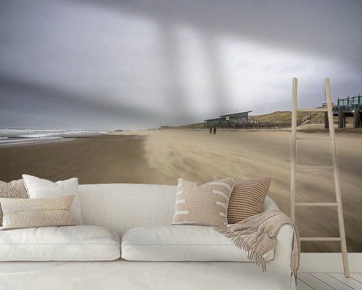Beispiel fototapete: Eine windige Küste bei Callantsoog von Martijn Tilroe
