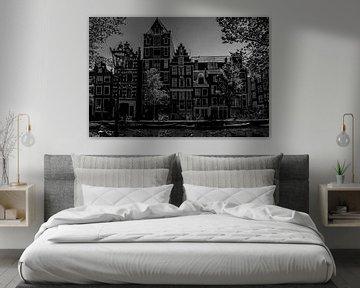 Amsterdamse grachtengevels van Pier Giorgio Tesser