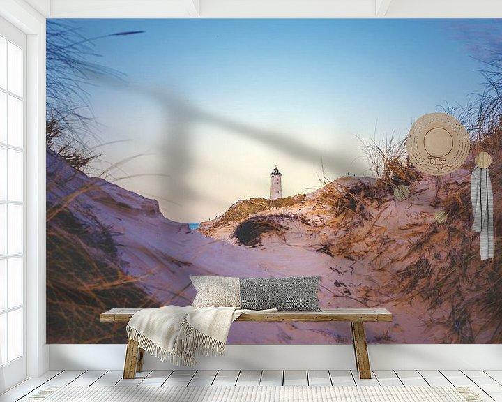 Sfeerimpressie behang: Een blik door de duinen van Florian Kunde