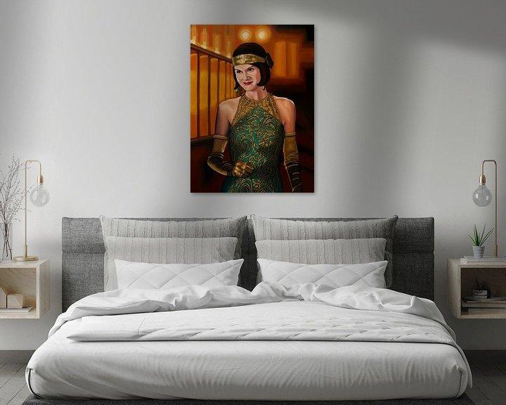 Beispiel: Downton Abbey Gemälde 2 Michelle Dockery als Lady Mary Crawly von Paul Meijering