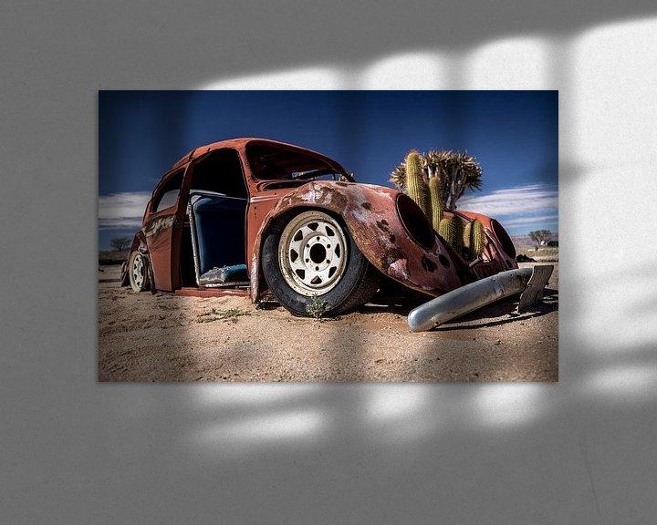 Beispiel: Ein Autowrack in der Namib-Wüste (Namibia). von Claudio Duarte