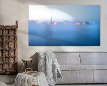 Misty skyline Zutphen van Vladimir Fotografie