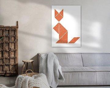 Simplistic tangram fox von Twan Van Keulen