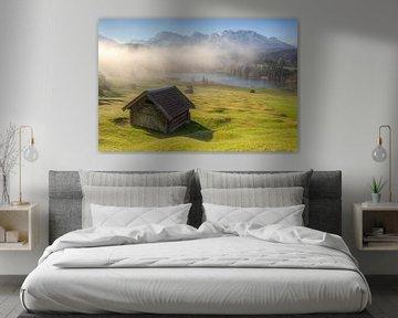 Nebelschwaden über dem Geroldsee von Michael Valjak