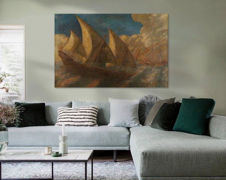 Beispiel: Caravelle pisane, Gaetano Previati