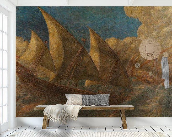 Beispiel fototapete: Caravelle pisane, Gaetano Previati