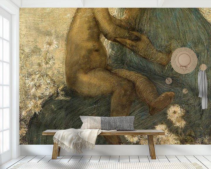 Beispiel fototapete: Mutterliebe, Gaetano Previati