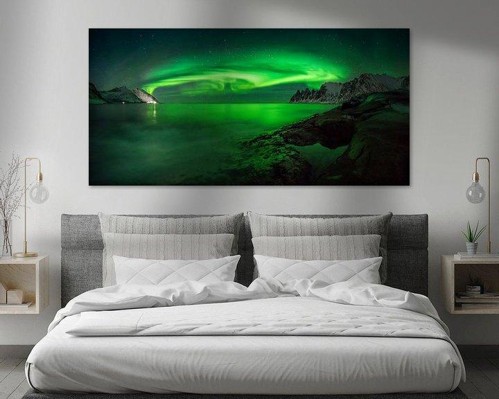 Beispiel: Ersfjord-Aurora von Wojciech Kruczynski
