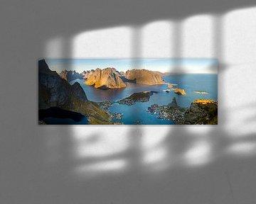 Het zicht...  (panorama 2) van Freek van den Driesschen