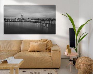 Skyline von Deventer schwarz-weiß von Vladimir Fotografie