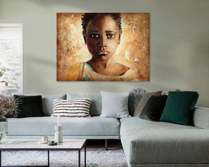 Beispiel: Afrikanisches Mädchen ( Malerei auf Leinwand) von Els Fonteine