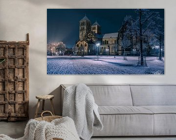 St. Paulus Dom im Schnee von Steffen Peters