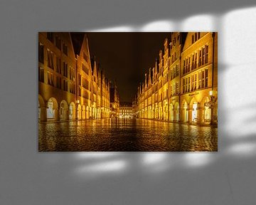 Prinzipalmarkt bei Nacht - Münster bei Nacht von Steffen Peters