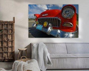 Chevrolet Bel Air in Havana, Cuba van Henk Meijer Photography
