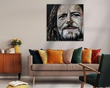 Porträt von Eddie Vedder. von Therese Brals