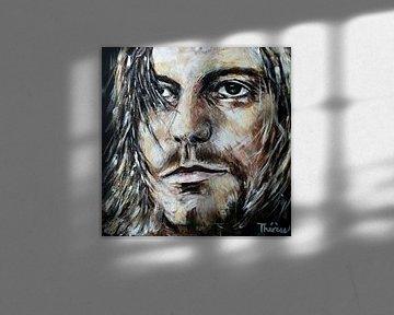 Porträt von Kurt Cobain. von Therese Brals