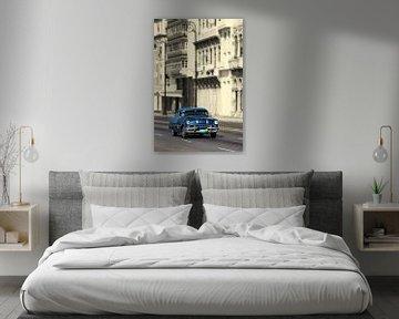 Pontiac Taxi in Havana, Cuba van Henk Meijer Photography