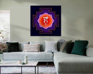 HUM Siva-yantra. Hindoeïsme Tantrische Symbolen en bija's van Paul Evdokimov