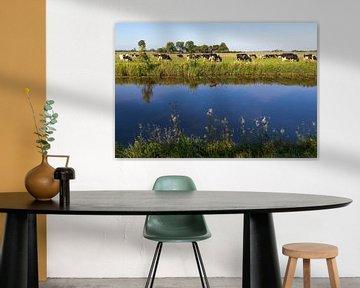 Koeien in Nederlands landschap met water van Ger Beekes