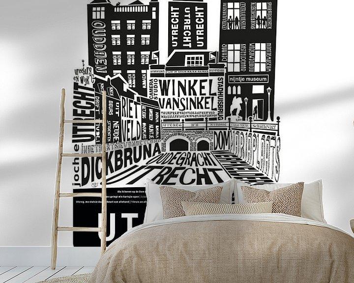 Sfeerimpressie behang: Utrecht Island van Tijmen