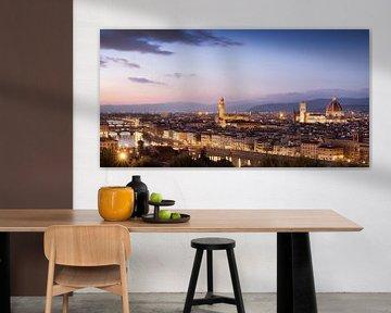 Uitzicht over Florence van Fotografie door Menno