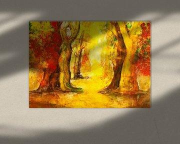 Roter Waldweg von Klaus Heidecker