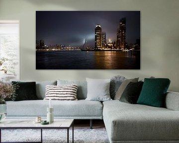 Kop van Zuid während der Nacht (Rotterdam) von Harald Wemekamp