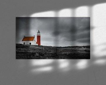 Leuchtturm Eierland auf Texel in der Nähe des Cocksdorp von Muriel Dorland