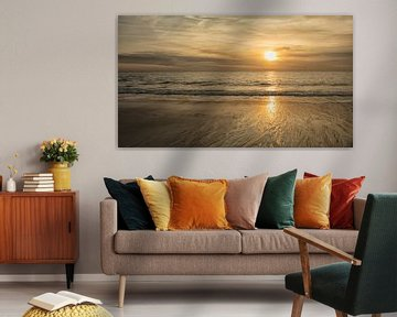 zonsondergang op het strand van anne droogsma