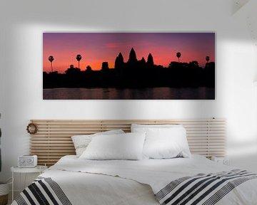 Sonnenaufgang in Angkor Wat, Kambodscha von Henk Meijer Photography