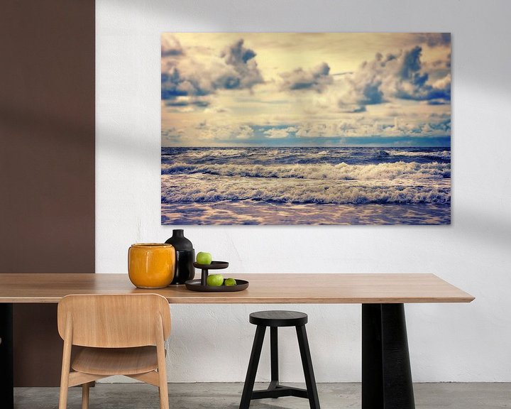 Beispiel: Stürmisches Meer von Angela Dölling