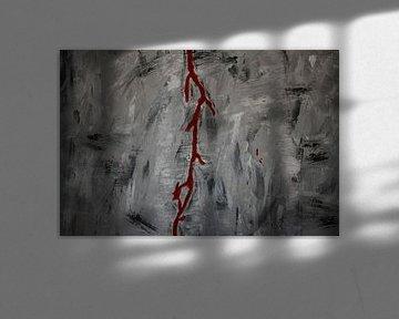 Blood on the wall von Toekie -Art