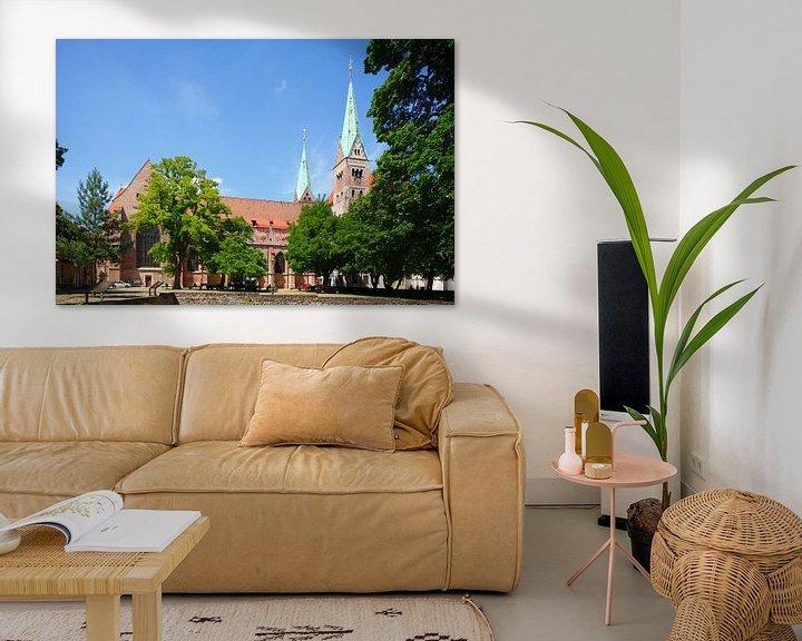 Sfeerimpressie: Dom van Augsburg , Oude Stad, Augsburg, Zwaben, Beieren, Duitsland, Europa I Augsburgse Domkerk , Au van Torsten Krüger