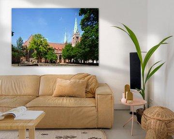 Dom van Augsburg , Oude Stad, Augsburg, Zwaben, Beieren, Duitsland, Europa I Augsburgse Domkerk , Au van Torsten Krüger
