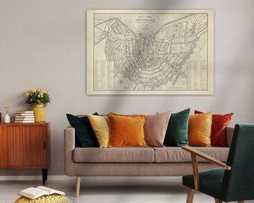 Plattegrond Amsterdam - 1842
