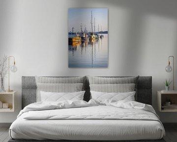Boote im Hafen von Sassnitz auf Rügen von Christian Müringer