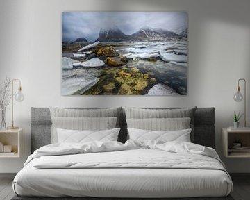 Winter Fjord Lofoten von Peter Poppe