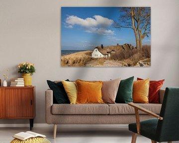 Strand und Deichhaus in Ahrenshoop an der Ostsee von Christian Müringer