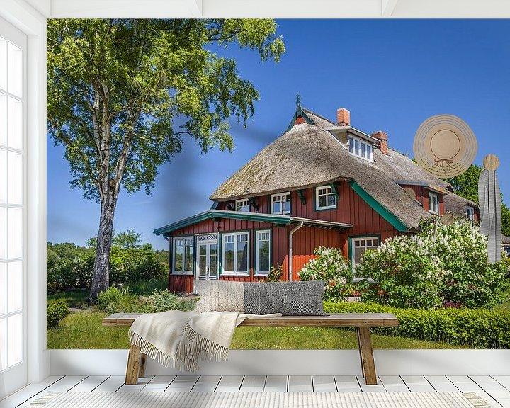 Beispiel fototapete: Historisches Reetdachhaus in Prerow von Christian Müringer