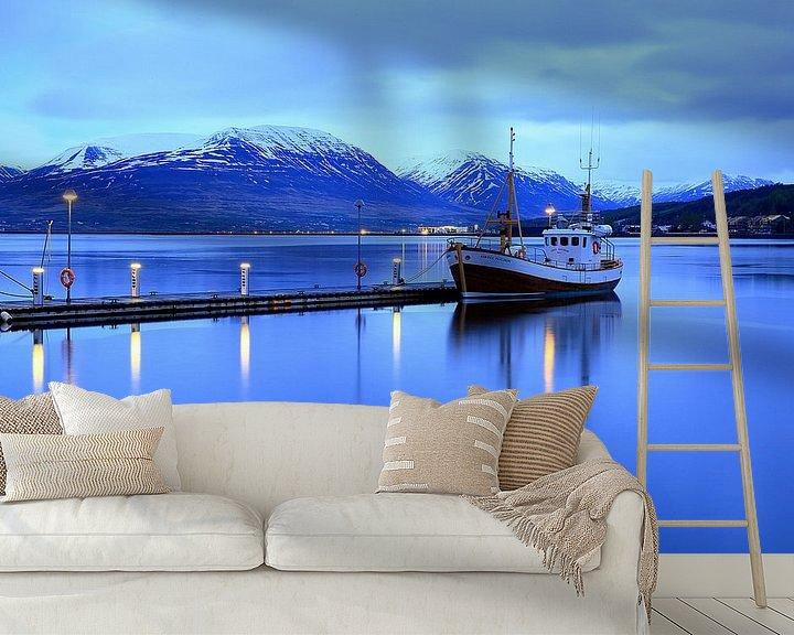 Beispiel fototapete: Akureyri Hafen von Patrick Lohmüller