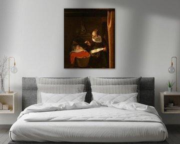 Junge Frau an der Wiege, Nicolaes Maes